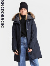 Didriksons Mea, dark night blue/mörk marin, parka
